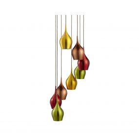 Searchlight Vibrant - hanglamp - Ø 36 x 170 cm - multicolour