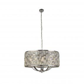 Searchlight Bijou - hanglamp - Ø 65 x 150 cm - chroom