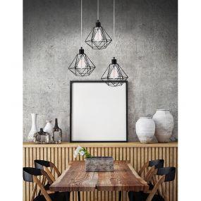 Nova Luce Pietra - hanglamp - Ø 30 x 135 cm - zwart