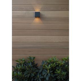 Lucide Axi - wandverlichting met 2 regelbare lichtbundels - 10 x 10 x 10 cm - 6W LED incl. - IP54 - zwart