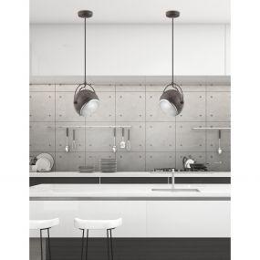Nova Luce Degli - hanglamp - Ø 18 x 250 cm - roest metaal