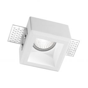 Nova Luce Tobia - inbouwspot - 80 x 80 mm, 85 x 85 mm inbouwmaat - wit gips