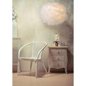 Lucide Goosy Soft - hanglamp - Ø 50 cm x 165 cm - wit