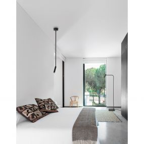Nova Luce Sicily - hanglamp - Ø 8 x 80 cm - 3W LED incl. - zwart