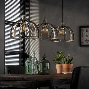 Vico Ribs - hanglamp - 118 x 32 x 150 cm - nikkel