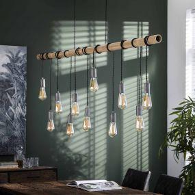 Vico Bamboo Wire - Hanglamp 11L - 180 x 6 x 150cm - Bamboo (laatste stuk!)