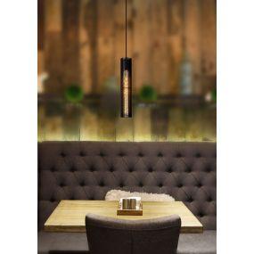 Lucide Lionel - hanglamp - 6,5 x 11 x 180 cm - zwart