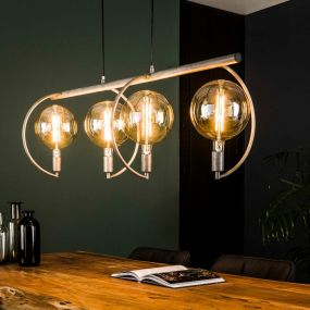 Vico Chop - hanglamp - 120 x 38 x 150 cm - oud zilver