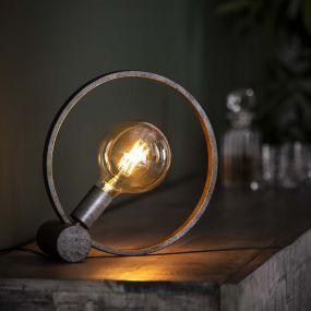 Vico Circular - Tafellamp - 31 x 31 x 10cm - Oud Zilver