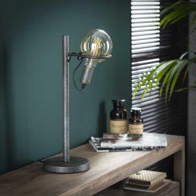 Vico Saturn - tafellamp - 54 cm - oud zilver