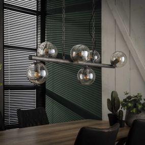 Vico Tower - hanglamp - 112 x 32 x 150 cm - oud zilver