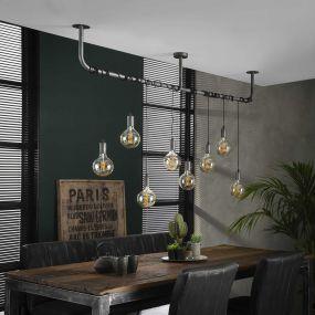 Vico Wrap - hanglamp - 176 x 12 x 150 cm - oud zilver