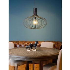 Lucide Manuela - hanglamp - Ø 65 x 182 cm - zwart