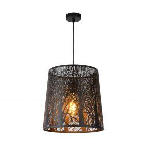 Lucide Garell - hanglamp - Ø 35 x 165 cm - zwart