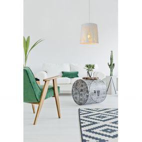 Lucide Garell - hanglamp - Ø 35 x 165 cm - wit