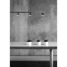 Lucide Delano - hanglamp - 118 x 6 x 150 cm - 5 x 5W LED incl. - mat chroom
