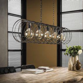 Vico Spiral Cylinder - hanglamp - 120 x 30 x 169 cm - houtskool