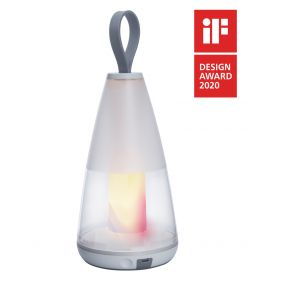 Lutec Pepper - buiten tafellamp - slimme verlichting - Lutec Connect - 12 x 12 x 29 cm - 3W LED incl. - IP54 - wit