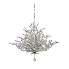 Searchlight Bouquet - hanglamp - Ø 84 x 158 cm - chroom