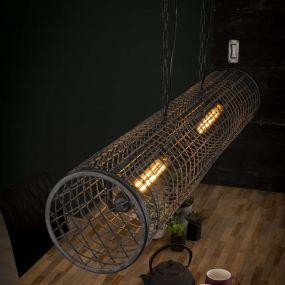 Vico Cylinder - hanglamp - 121 x 20 x 150 cm - grijs