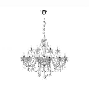 Nova Luce Connor - luster - Ø 100 x 120 cm - chroom en transparant