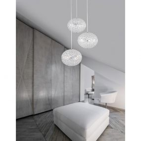 Nova Luce Aprilia - hanglamp - Ø 48 x 120 cm - chroom