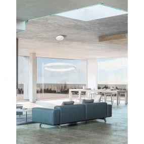 Nova Luce Albi - hanglamp - Ø 81 x 120 cm - 80W dimbare LED incl. - wit