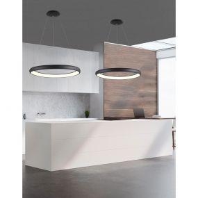 Nova Luce Albi - hanglamp - Ø 81 x 120 cm - 80W dimbare LED incl. - zwart