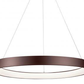 Nova Luce Albi - hanglamp - Ø 61 x 120 cm - 50W dimbare LED incl. - koffie bruin