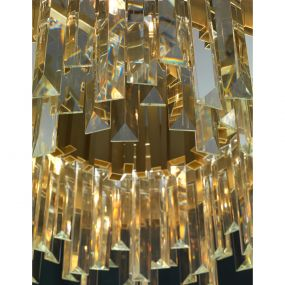 Nova Luce Baladona - luster - Ø 73 x 180 cm - gouden messing