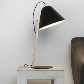Vico Torque Wood - tafellamp - 46 cm - zwart (OP=OP!)