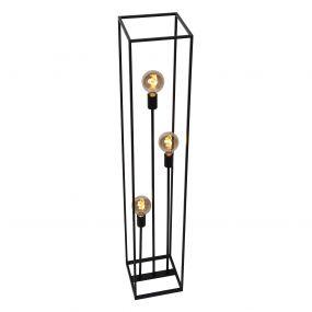 Lichtkoning Achille - staanlamp - 25 x 25 x 140 cm - zwart