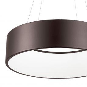 Nova Luce Rando - hanglamp - Ø 45 x 120 cm - 32W dimbare LED incl. - koffie bruin
