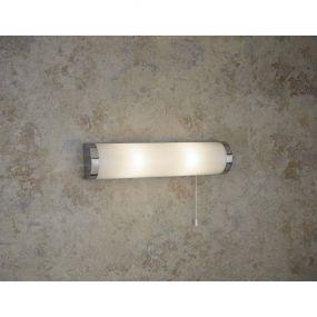 Searchlight Poplar - wandverlichting met trekschakelaar - 40 x 7,3 x 9 cm - IP44 - wit