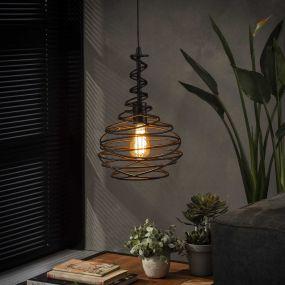 Vico Cone Spinn - hanglamp - 150 cm - zwart