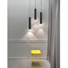Nova Luce Gia - hanglamp - Ø 6 x 170 cm - zwart