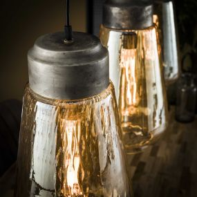 Vico Amber - hanglamp - 110 x 22 x 150 cm - amber