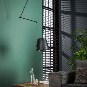 Vico Kinetic - hanglamp - 54 x 30 x 128 cm - houtskool