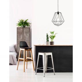 Nova Luce Pietra - hanglamp - Ø 35 x 150 cm - zwart