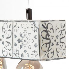 Brilliant Vagos - hanglamp - 60 x 10 x 110 cm - zwart en wit