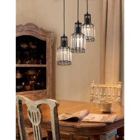 Nova Luce Carter - hanglamp - Ø 32 x 120 cm - zwart