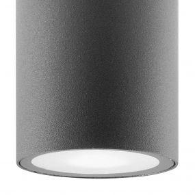 Nova Luce Cerise - buiten plafondlamp - Ø 6 x 10,5 cm - IP54 - donkergrijs