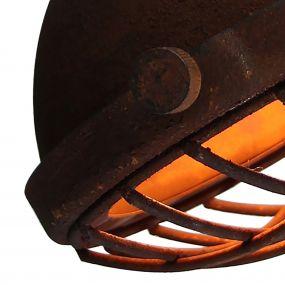 Brilliant Mila - wandverlichting - 16 x 21 x 21 cm - roest