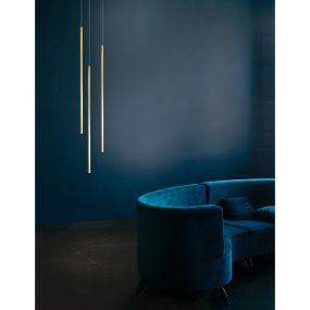 Nova Luce Elettra - hanglamp - Ø 1,5 x 200 cm - 5W LED incl. - messing goud