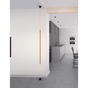 Nova Luce Elettra - hang/staanlamp - Ø 7 x 300 cm - 20W LED incl. - zand zwart