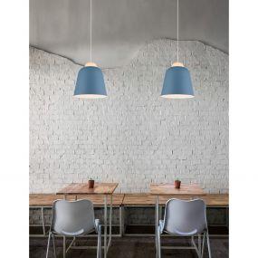 Nova Luce Victoria - hanglamp - Ø 29 x 120 cm - blauw en wit
