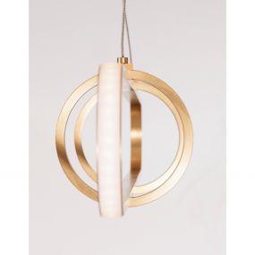 Nova Luce Arte - hanglamp - 90 x 120 cm - 31,2W dimbare LED incl. - goud
