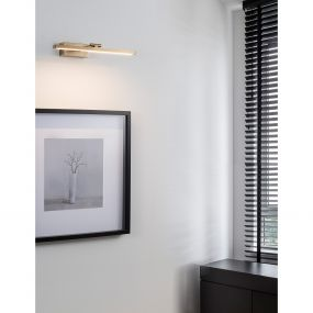 Nova Luce Marnell - wandverlichting - 37,6 x 20,5 x 5,5 cm - 12W LED incl. - antiek messing