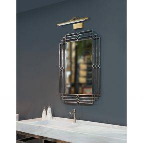 Nova Luce Tiffany - spiegellamp - 57 x 20 x 12,5 cm - 12W LED incl. - messing