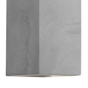 Nova Luce Cadmo - wandverlichting - 10,7 x 8,4 x 16 cm - 2 x 3W LED incl. - IP65 - grijs beton